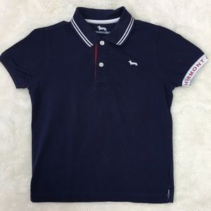 Harmont & Blaine Blue Polo Shirt Size Medium